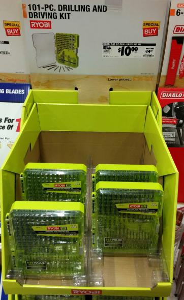 Ryobi 101 pc Drill and Driving Set Home Depot 2015