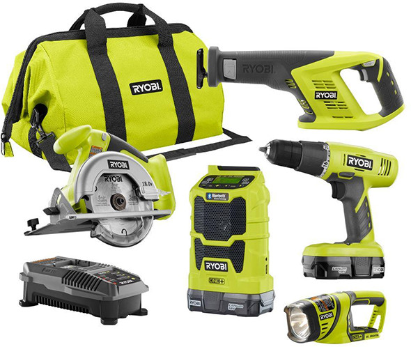Deal Of The Day Ryobi 18v 5pc Cordless Combo Kit For 135
