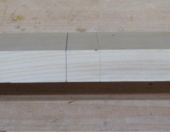 Saddle T-Square mark around board with a knife