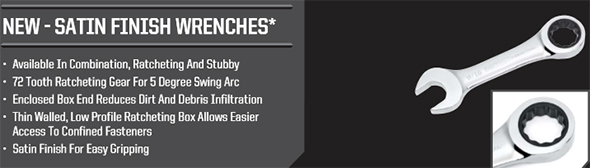 Craftsman Industrial Satin Finish Wrenches