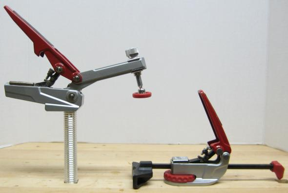 Product shot of push peg and hold down peg clamps