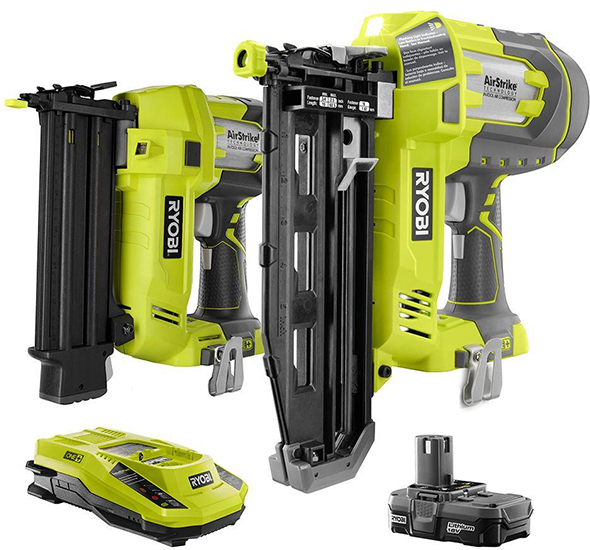 Ryobi AirStrike Brad Nailer and Finish Nailer Combo Kit