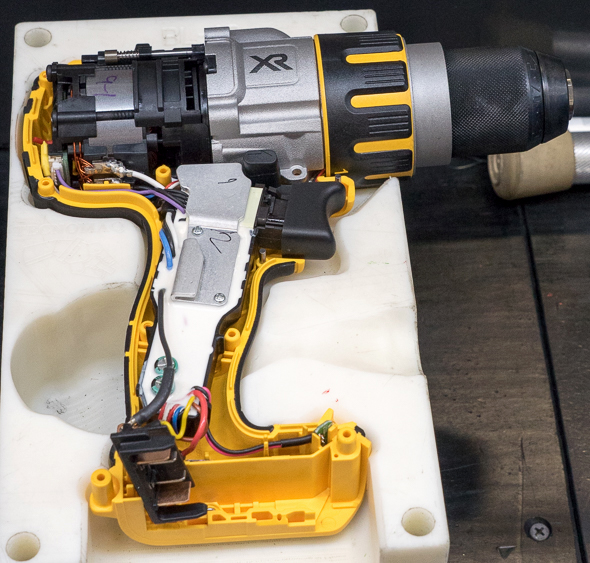 Dewalt 20V Max Brushless Premium Drill USA Assembly Internals in Place