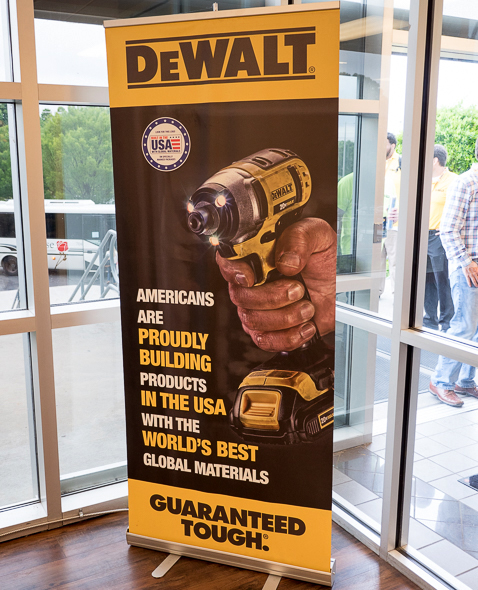 Dewalt Built in the USA Banner