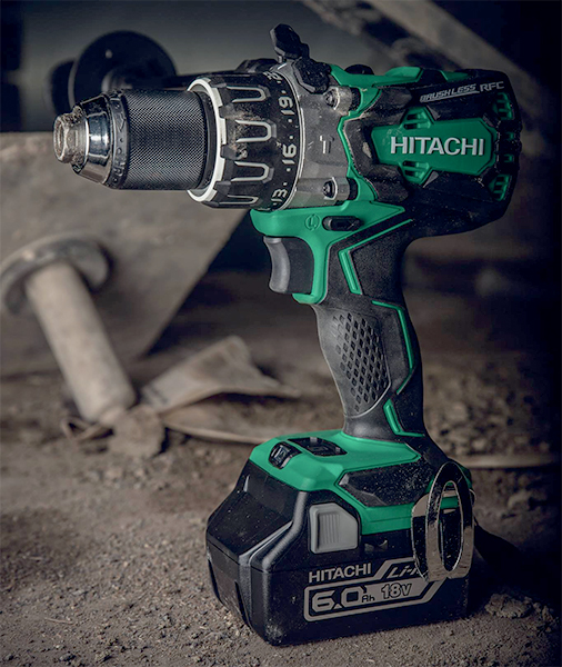 Hitachi DV18DBXL Brushless Hammer Drill in Dirt
