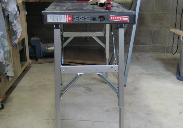Side View of Craftsman Peg Workbench