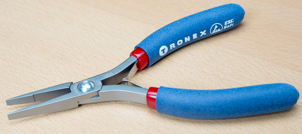 Tronex 541 Flat Nose Pliers with Step Tip