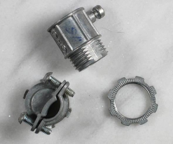 Conduit Locknuts and romex connectors