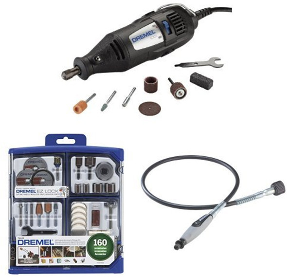 Dremel 100 and Accessory Set Bundle
