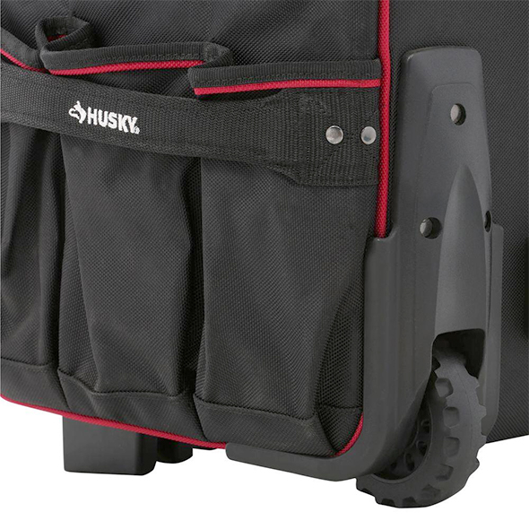 Husky 22 Inch Pro Rolling Tool Bag Wheel and Bumpers