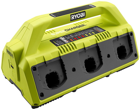 New Ryobi 18V One+ 6-Port Battery SuperCharger on exide battery charger wiring diagram, 12 volt battery charger wiring diagram, generac battery charger wiring diagram, onboard battery charger wiring diagram, guest battery charger wiring diagram, century battery charger wiring diagram, sears battery charger wiring diagram,