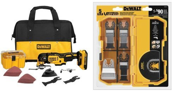 Dewalt Brushless Oscillating Multi-Tool Plus Accessories Bundle