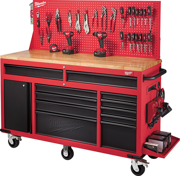 Milwaukee 60 inch Mobile Workcenter with Pegboard