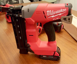 Milwaukee M18 Fuel Brad Nailer Standing Up