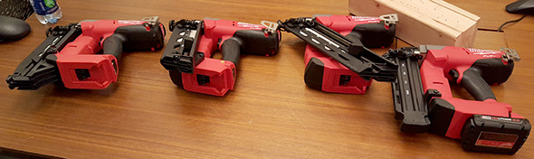 Milwaukee M18 Fuel Brushless Cordless Nailer Lineup