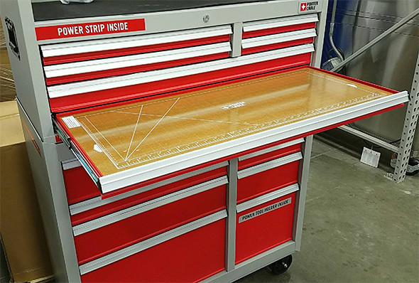 Porter Cable Tool Storage Cabinet Pull-Out Work Surface
