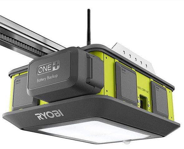 new garage door openerNew Ryobi Garage Door Opener and Modular Accessory System