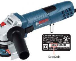 Bosch Grinder Recall: 1380 Slim