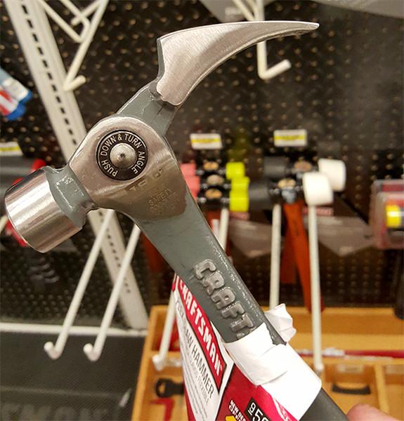 Craftsman Flex Claw Hammer Angle