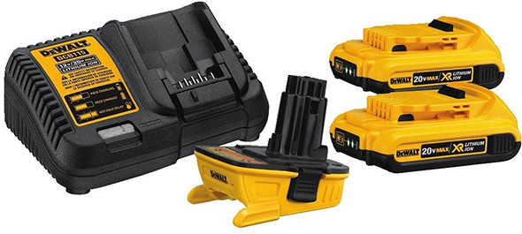 Dewalt 18V to 20V Adapter and Battery Kit