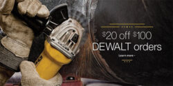 Dewalt $20 off $100 Promo is Back (Spring 2016)