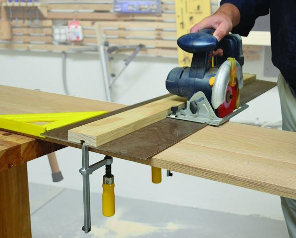 MatchFit Dovetail used on a circular saw guide