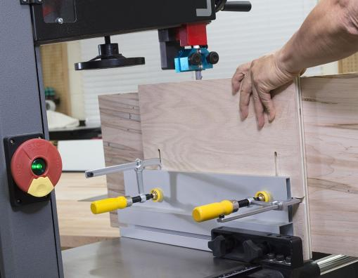 Micro Jig MatchFit Dovetail Clamps used for Bandsaw Fence
