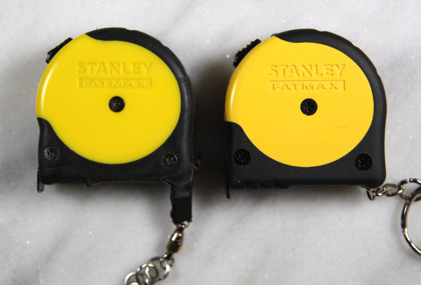 Old Stanley FatMax Keychain Tape Measure vs New Case Molding