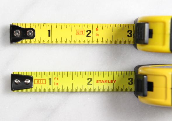 Old Stanley FatMax Keychain Tape Measure vs New End Hooks