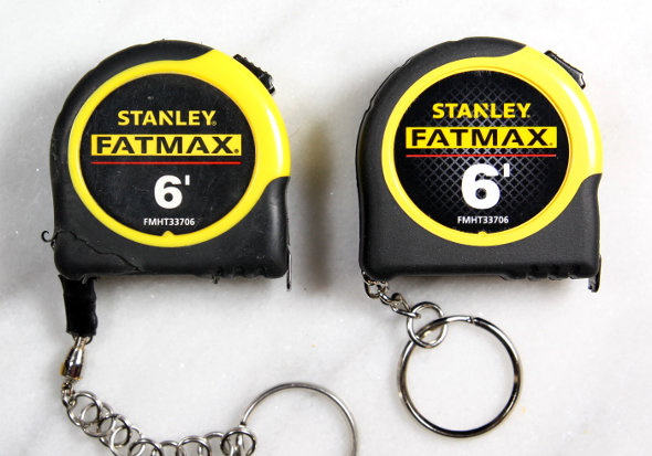 Old Stanley FatMax Keychain Tape Measure vs New Product Shot 1
