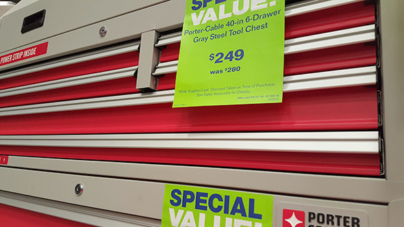 Porter Cable Tool Cabinet Special Value Price
