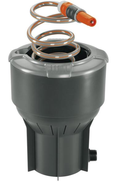 Product Shot of Gardena in ground coiled hose box from Amazon