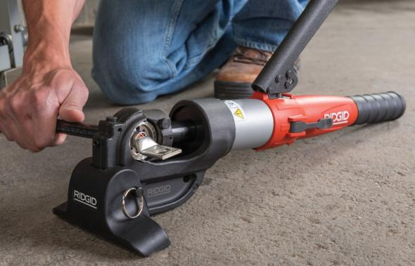 Ridgid manual hydraulic crimp tool crimping electric lug
