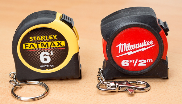Stanley vs Milwaukee Keychain Tape Measure Housing
