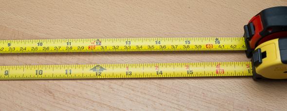 Stanley vs Milwaukee Keychain Tape Measure Markings Long