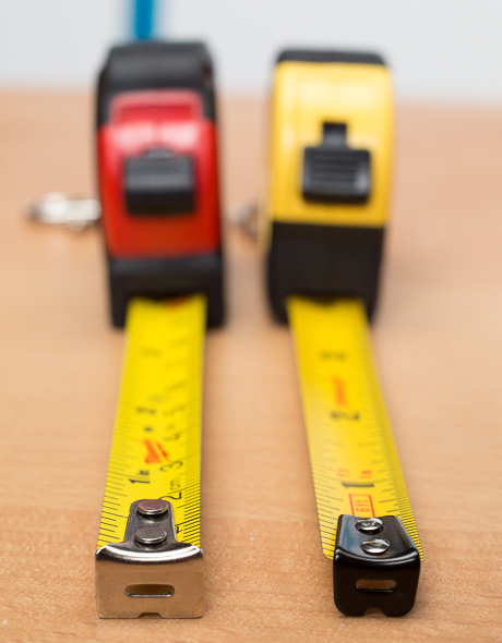 Stanley vs Milwaukee Keychain Tape Measure Side by Side