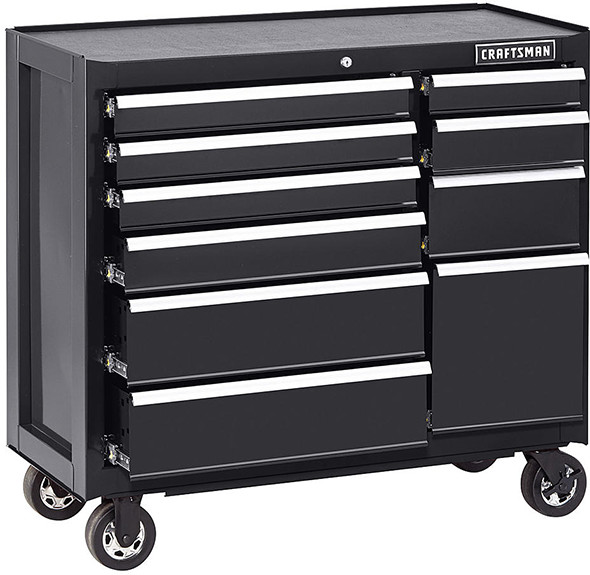 Craftsman 41-inch 10-Drawer Tool Cabinet in Black
