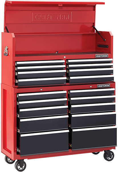 Craftsman 52-inch Tool Storage Combo in Red and Black