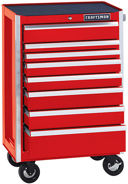 Craftsman Edge 26-inch 8-Drawer Rolling Cabinet