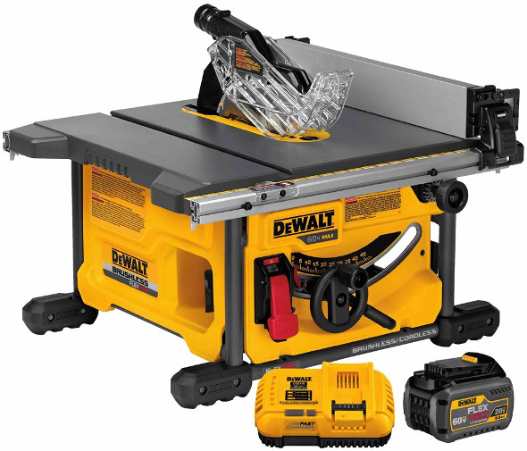 Hands on with the new dewalt flexvolt cordless saws dewalt flexvolt dcs7485t1 60v table saw greentooth Images