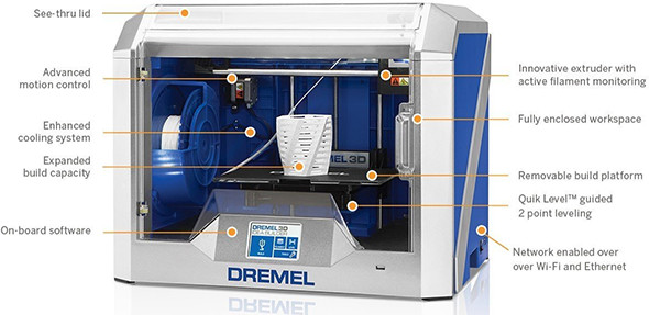 Dremel Idea Builder 2nd Generation 3D Printer Features