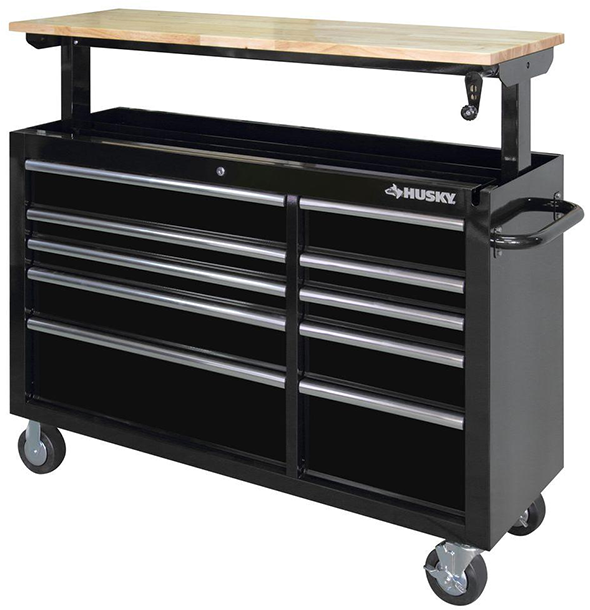 Husky Adjustable Height Mobile Workbench