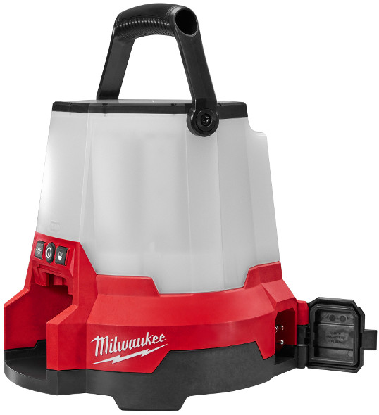 Milwaukee M18 Radius Site Light battery and AC ports