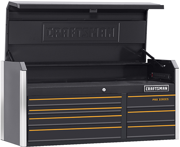 new craftsman pro series tool storage with smartphone-connected locks