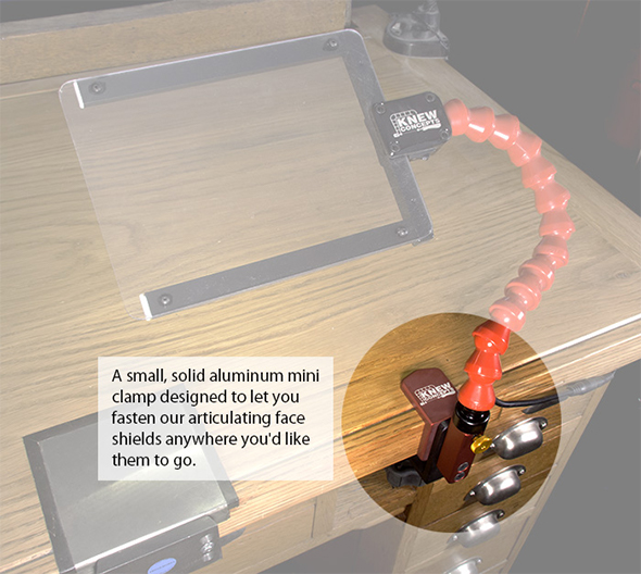 Knew Concepts Mini Benchtop Clamp Features and Usage Example