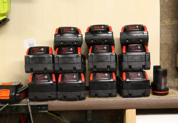 M18 batteries all charged up and no place to go