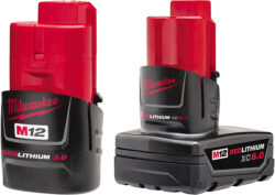 New Milwaukee M12 3.0Ah and 6.0Ah Battery Packs