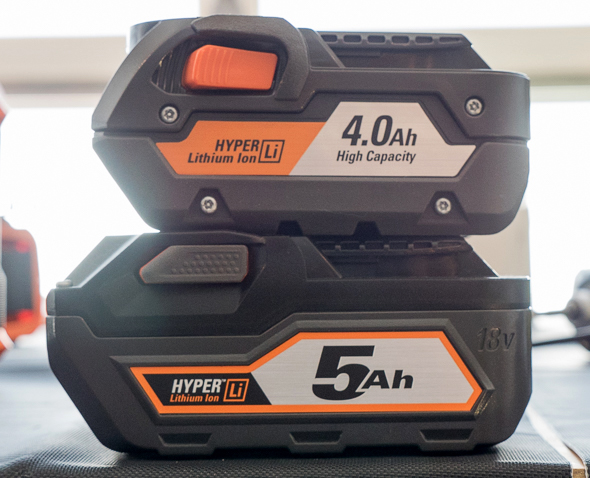 Ridgid 18V 4Ah vs 5Ah Battery Pack Comparison