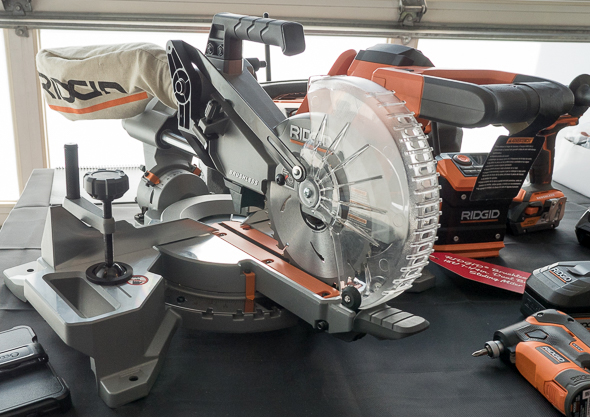 Sneak Peek Ridgid 18v Cordless Miter Saw And A 5ah