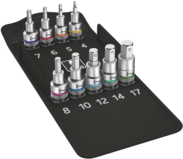 Wera 8710 Screw-Holding Metric Hex Socket Set